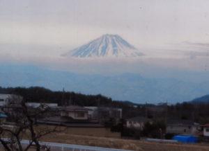 諏訪湖から見える富士山2
