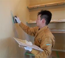 漆喰塗りのご指導、お手伝い写真2