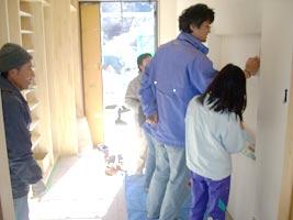 塗り壁のご指導写真